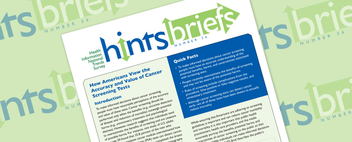 HINTS Brief 36: How Americans View the Accuracy and Value of Cancer Screening Tests