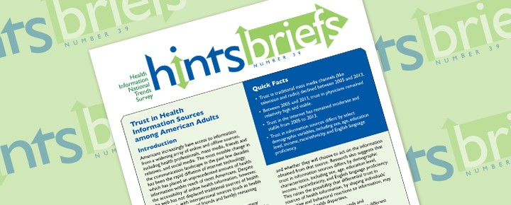 HINTS Brief 39: Trust in Health Information Sources among American Adults