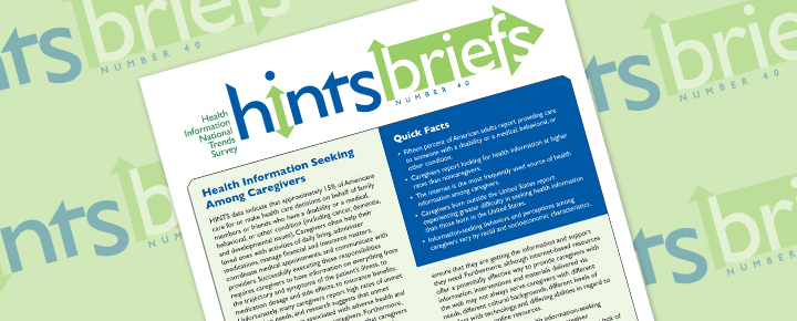 HINTS Brief 40: Health Information Seeking Among Caregivers